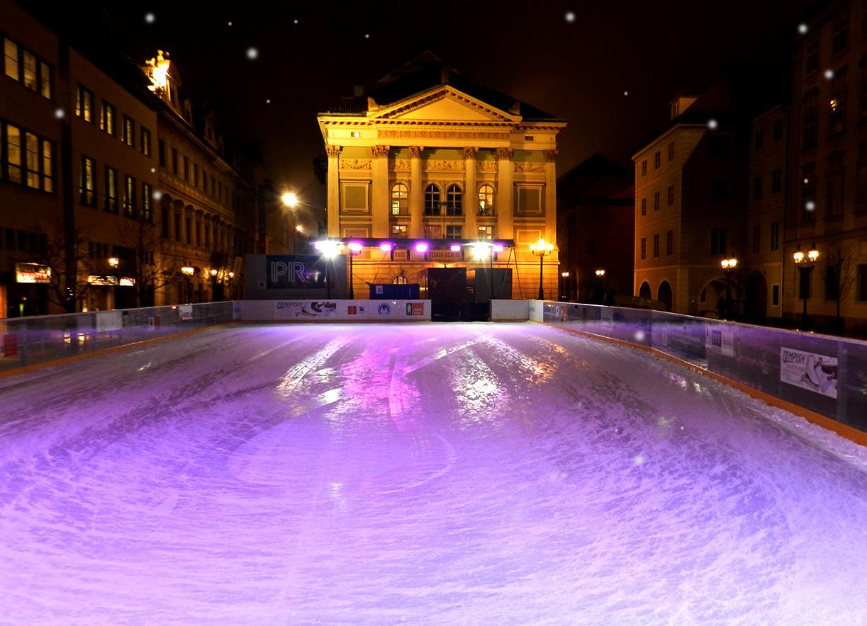 Ice skating in Prague