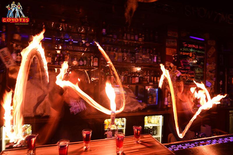 Fire Flair Bartending Coyotes Prague