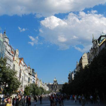 Piazza Venceslao e il Museo Nazionale